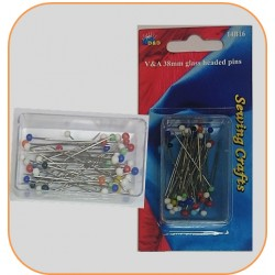 38mm Glass Head Pins