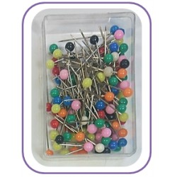 28mm Plastic Headed Steel Pins
