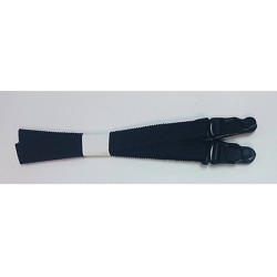 15mm Elasticated Suspenders Black
