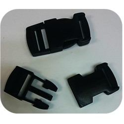 25mm Bag Clasps Black