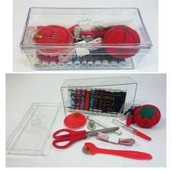 Clear Box Sewing Kit