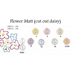 Flower Matt (cut out daisy) Buttons