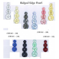 Ridge Edge Pearl Buttons
