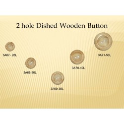 2Hole Wood Button