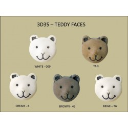 Teddy Faces Buttons