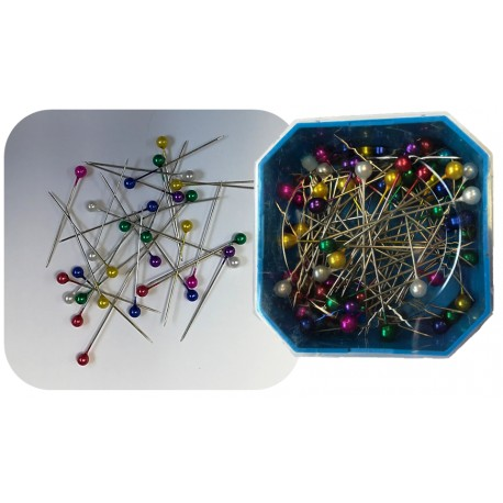 Coloured Headed Pins
