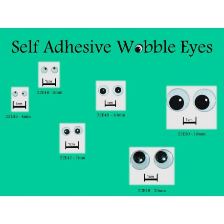 Self Adhesive Wobbly Eyes