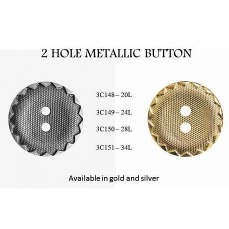 2 Hole Metallic