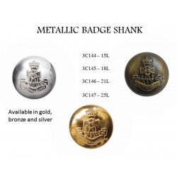 Metallic Badge Shank