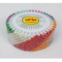 Plastic Colour head  Pin Wheels 38mm