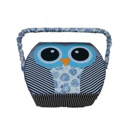 Blue Owl Sewing Box