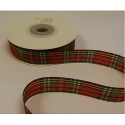 25mm Lurex Tartan Ribbon
