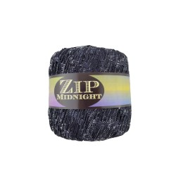 Zip Midnight Double Knit Ladder Yarn