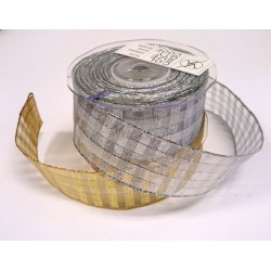 38mm Metallic Sheer Wired Ribbon