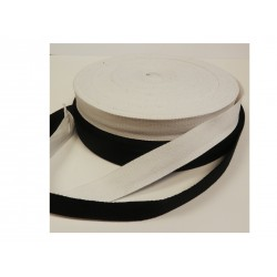 25mm Cotton Twill tape Black 50 mtr