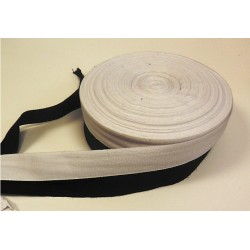 25mm Cotton Tape Black 50 mtr