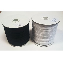 6mm Cotton Tape Black 250 mtr